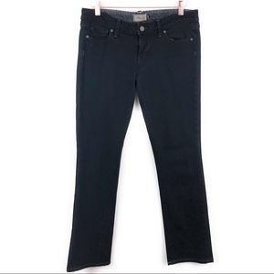 Paige Black Blue Heights Low Rise Skinny Jeans 29